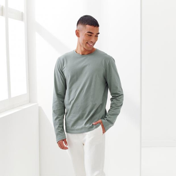 Langärmeliges T-Shirt aus Baumwolle