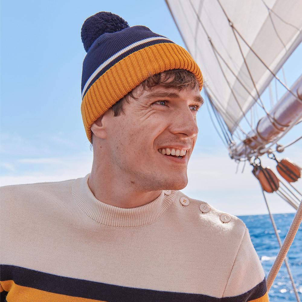 Navy/Ocre Le Slip Français