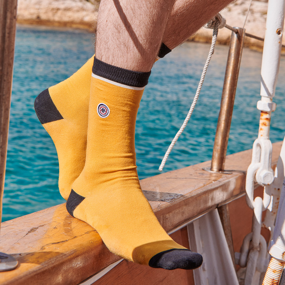 Ocre/Navy Le Slip Français