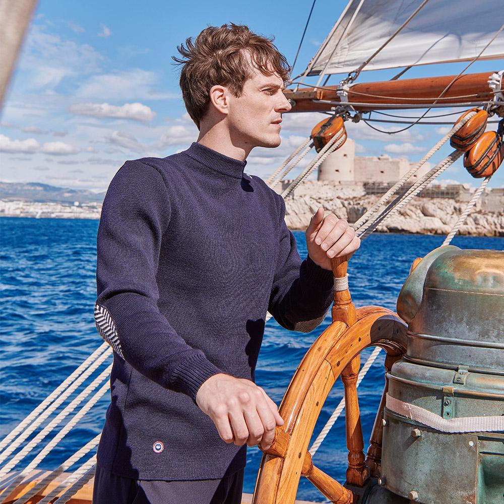 Maille Homme Navy Le Slip Français