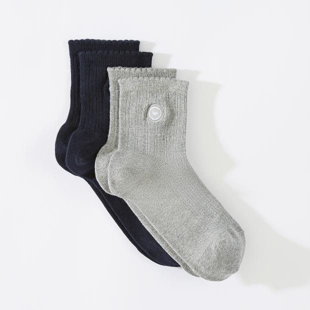 Pack de chaussettes courtes à croquet en coton