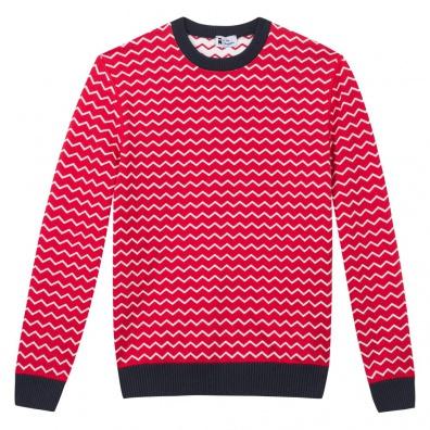 ECOLE DU SLIP FRANCAIS - Le Mono - Pull réversible rouge / blanc