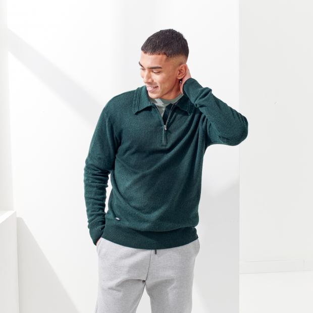 Männer Pullover aus recycelter Wolle und Kaschmir