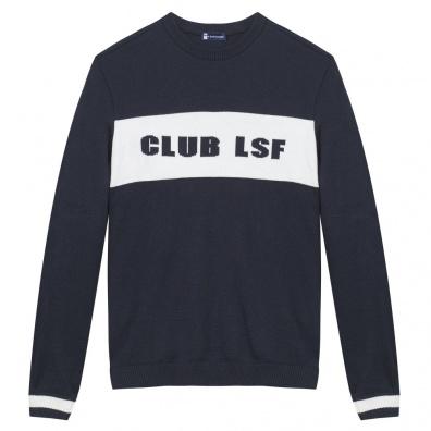 Pulls Homme - Le Club LSF - Pull marine 100% Laine