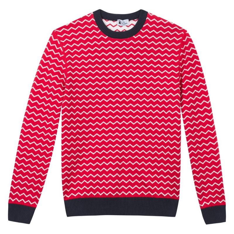 Le Mono   Pull Réversible Rouge   Blanc Femme   Le Slip Français 🇫🇷 254b4f17d5f5