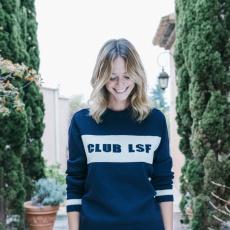 Le Club LSF - Pull marine 100% laine
