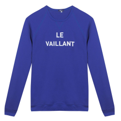 Le Hubert Vaillant - Sweat Bleu Roi