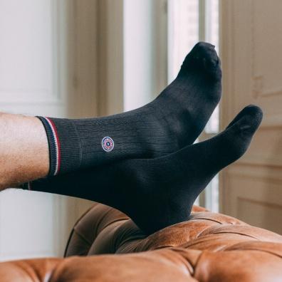 Chaussettes Homme - Les Nessy - chaussettes fil d'écosse gris homme