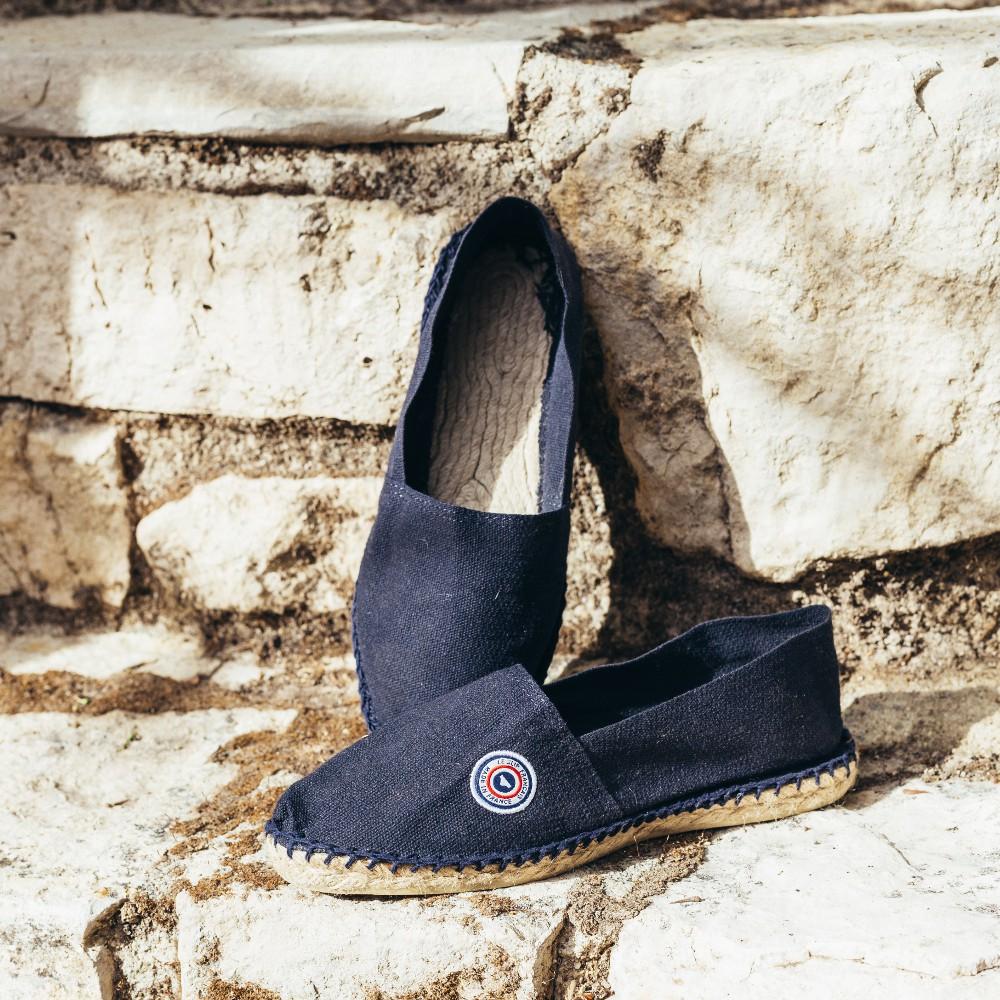 online shop sneakers official images LES BASQUES Navy blue - Navy blue Espadrilles - 35