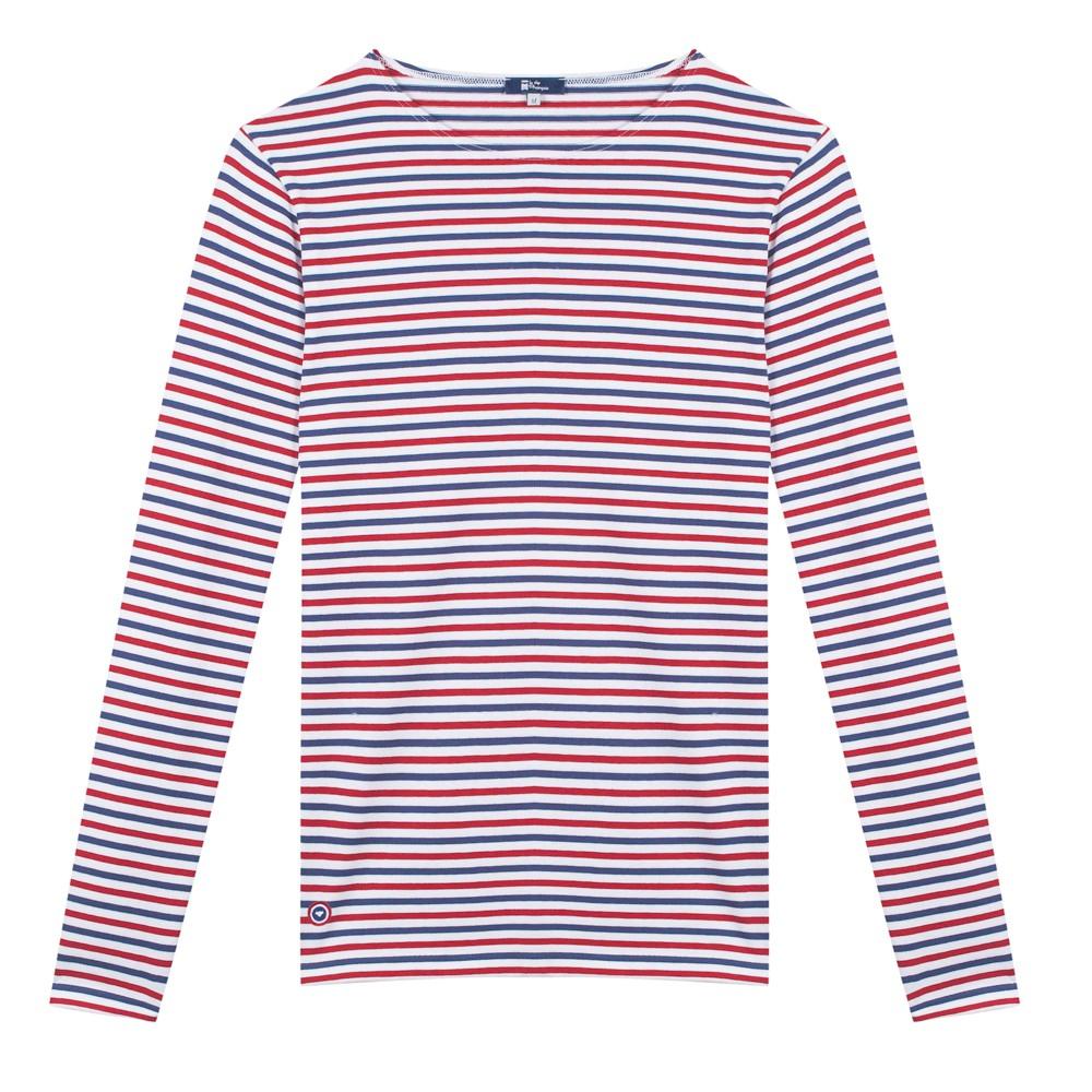 01fb453b35f Le Malo BBR   T-shirt Marinière Bleu Blanc Rouge Homme