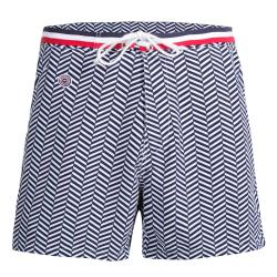 LE MOUSSAILLON - Long blue swim short