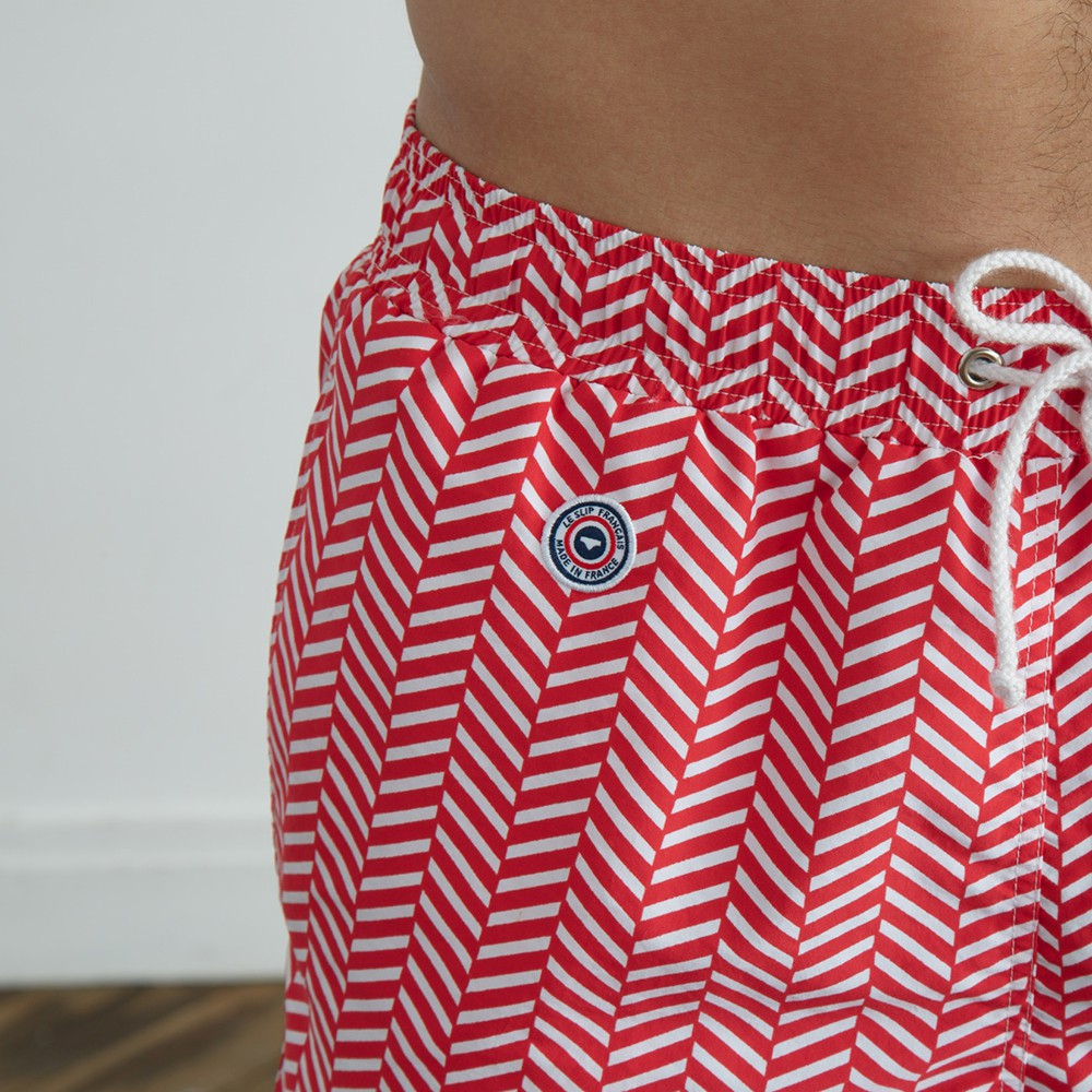 Le Chevron Rouge - Red swim short