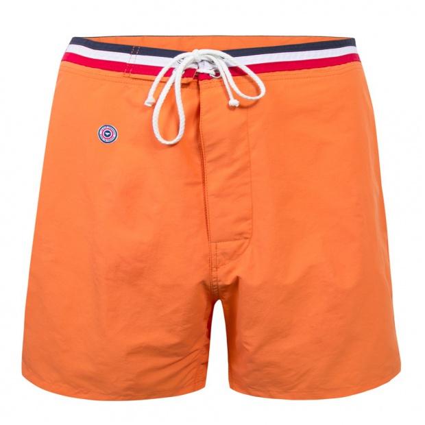 Long orange swim short