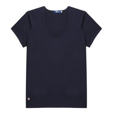 T-SHIRTS FEMME - La Brigitte - T-shirt bleu à col rond