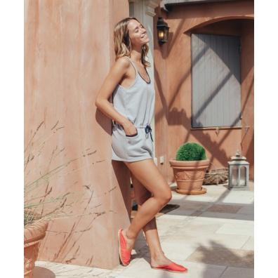Vêtements Femme - La Catherine - Combinaison grise bretelles