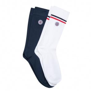2 pack socks blue & white