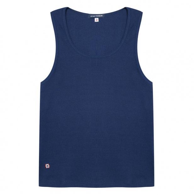 Blue Muscle Fit Vest