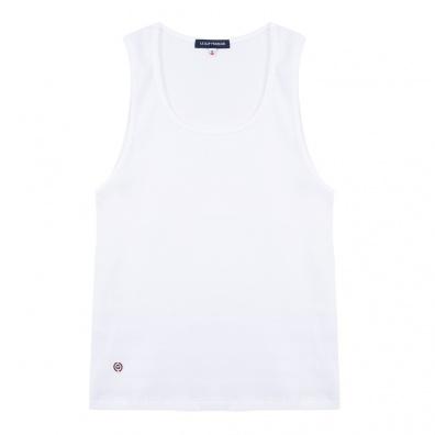 ESSENTIALS - La Marcella - White Muscle Fit Vest
