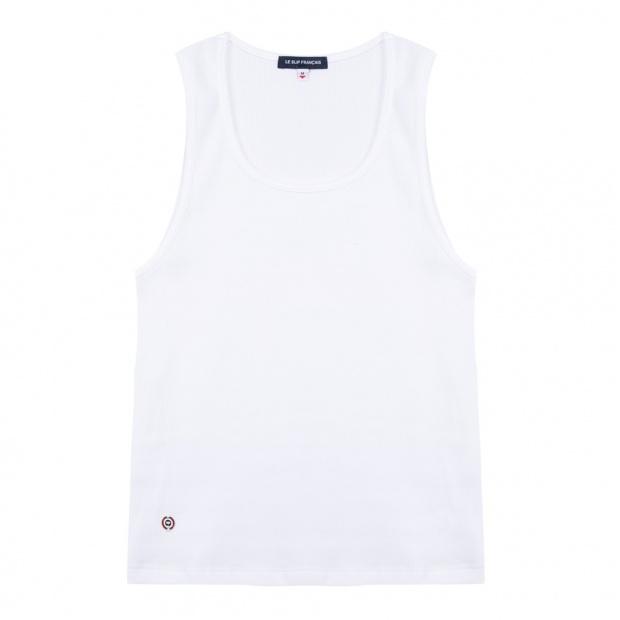 White Muscle Fit Vest 100% cotton