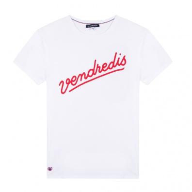 T-Shirts Homme - Le Jean F Vendredis blanc - T-shirt homme blanc