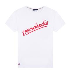 Le Jean F Vendredis blanc - T-shirt homme blanc