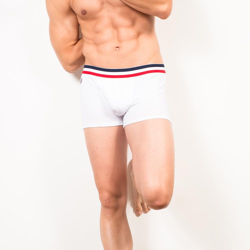 Le Ferdinand blanc - Boxer blanc avec poche