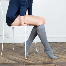 Les Daniel Grey- Grey knee-high socks
