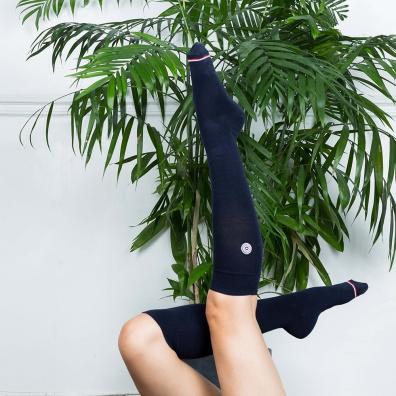 SOCKS - Les Daniel Navyblue - Navyblue knee-high socks