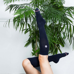 Les Daniel Navyblue - Navyblue knee-high socks