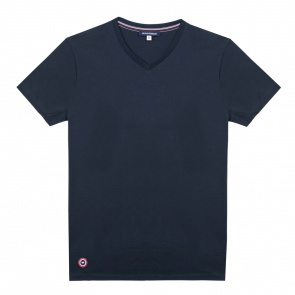 T-shirt Col V en coton