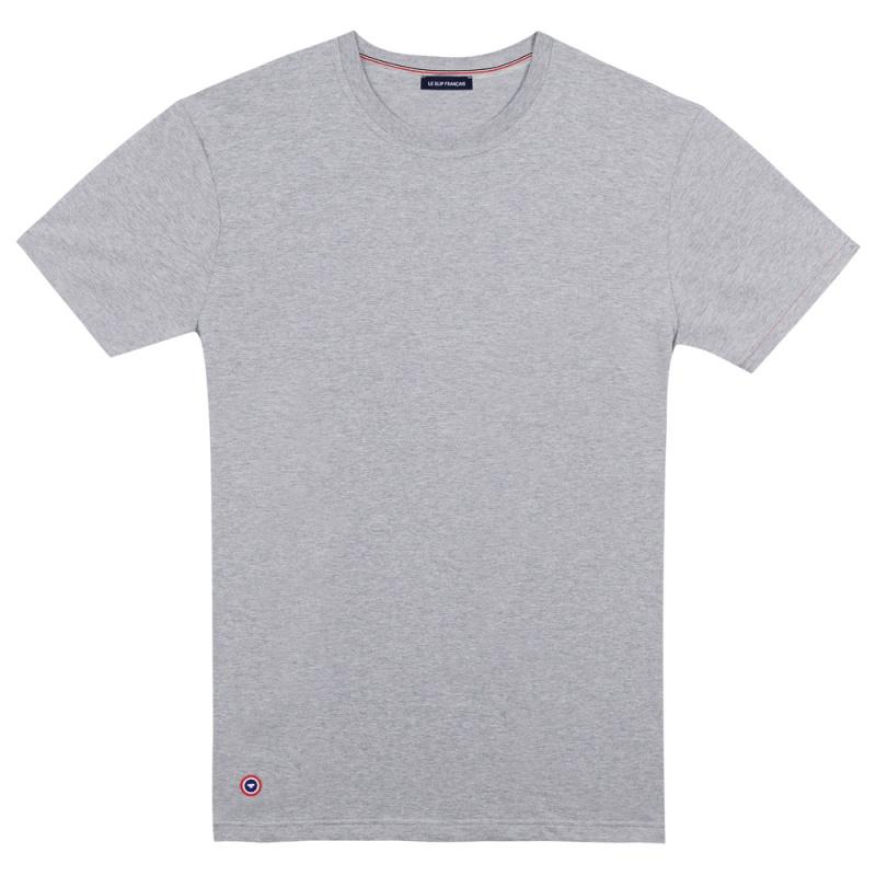 ... Le Jean gris - T-shirt Gris Chiné Col rond ... ddf01e67cc3