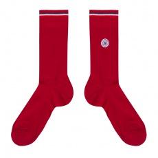 Les Nessy - chaussettes fil d'écosse rouge femme