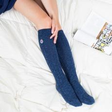 les Alfred bleues - Chaussettes hautes bleues femme