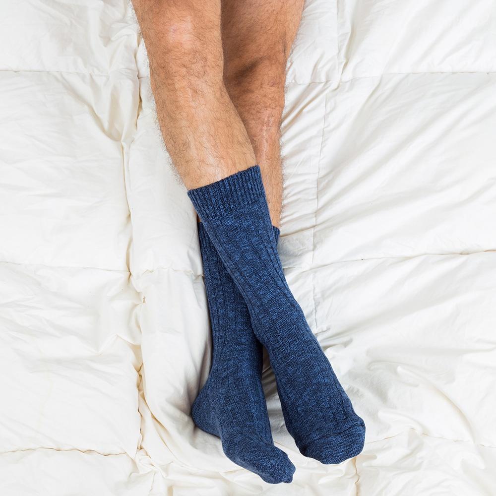 Les Martin bleues - Chaussettes bleues homme
