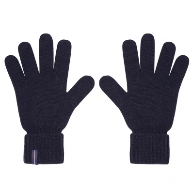 ACCESSORIES - Les Adrien - Navy knitted wool gloves
