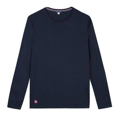 T-Shirts Homme - Le Damien Bleu Marine - T-shirt manches longues bleu marine