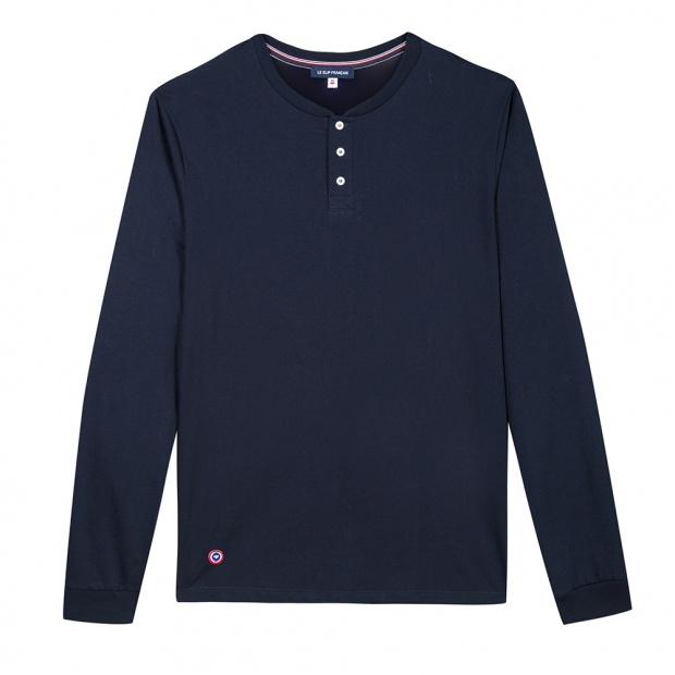 Henley - T-shirt tunisien en coton