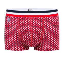 Le Tire Fesse - Red multi-triangle boxer brief