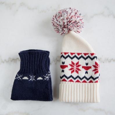Les packs - Coffret Noël Anti Froid - Duo Bonnet Claude et Gants Noël Femme