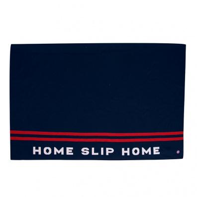 Accessoires Femme - Le Gaspard - Plaid en laine bleu marine et rouge