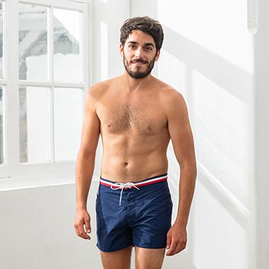 Short de bain bleu Capitaine Le Slip Français