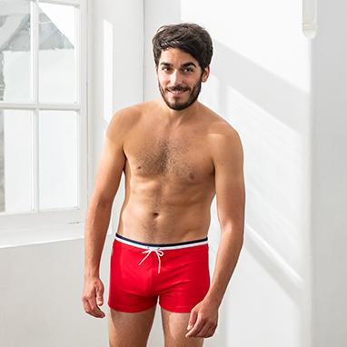 Boxer de bain rouge Le Slip Français